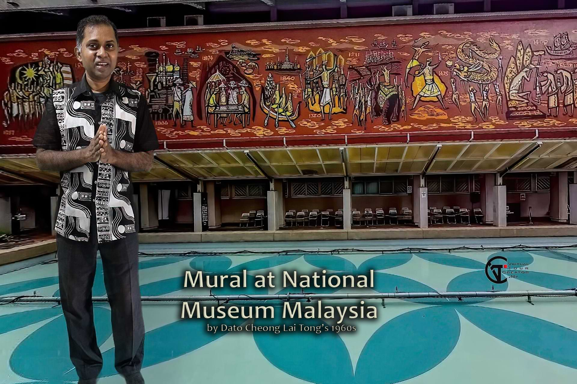 Mural at National Museum of Malaysia, explained by Johnson Sisrajah
