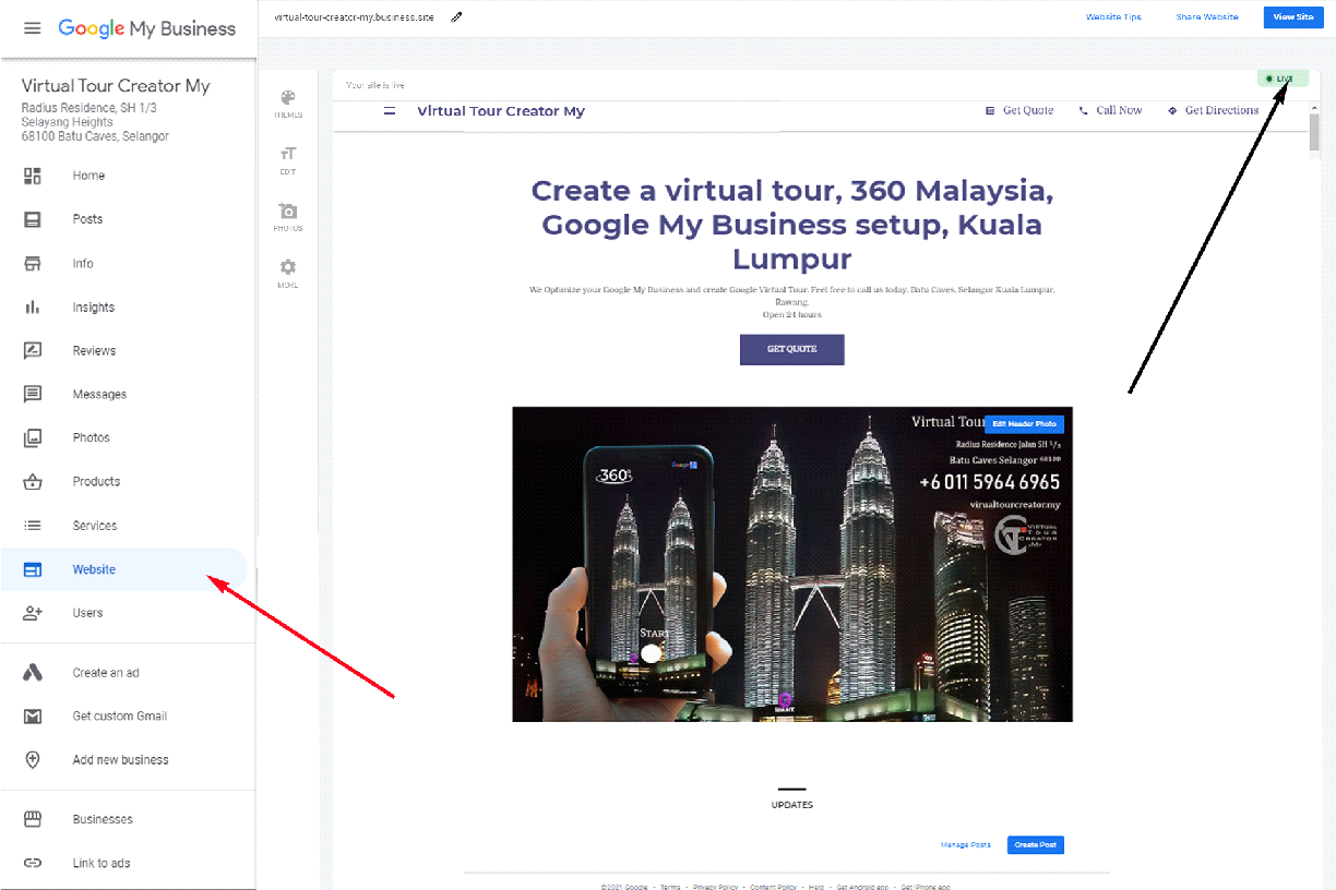 Your location made virtual for custormer will increase sales and visits. One of the best free services provided by Google is google business location ie Google Maps (peta google). in the maps we can embed virtual tour.